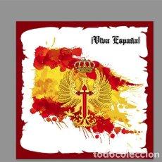 Militaria: AZULEJO 15X15 CON EMBLEMA DEL EJERCITO DE TIERRA Y VIVA ESPAÑA. Lote 178264612