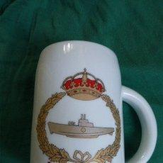 Militaria: JARRA DE PORCELANA..FLOTILLA DE SUBMARINOS...ARMADA ESPAÑOLA... Lote 178277251