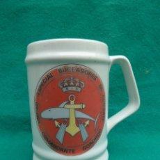Militaria: JARRA DE PORCELANA, UNIDAD ESPECIAL DE BUCEADORES DE COMBATE..COMANDANTE GORORDO..ARMADA ESPAÑOLA.. Lote 178277902