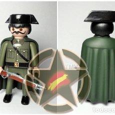Militaria: ESTUPENDO PLAYMOBIL DE LA GUARDIA CIVIL CON CAPA 1943-1975 EXCELENTE CALIDAD. Lote 179197136