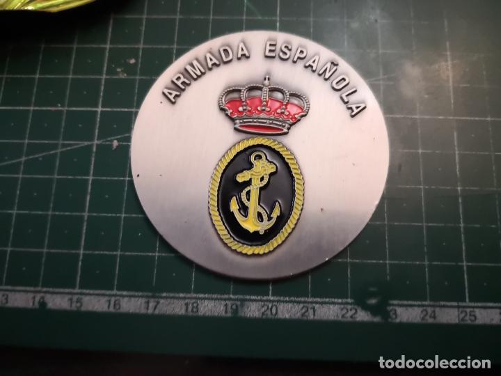 Militaria: PLACA METALICA. ARMADA ESPAÑOLA - Foto 2 - 179219628