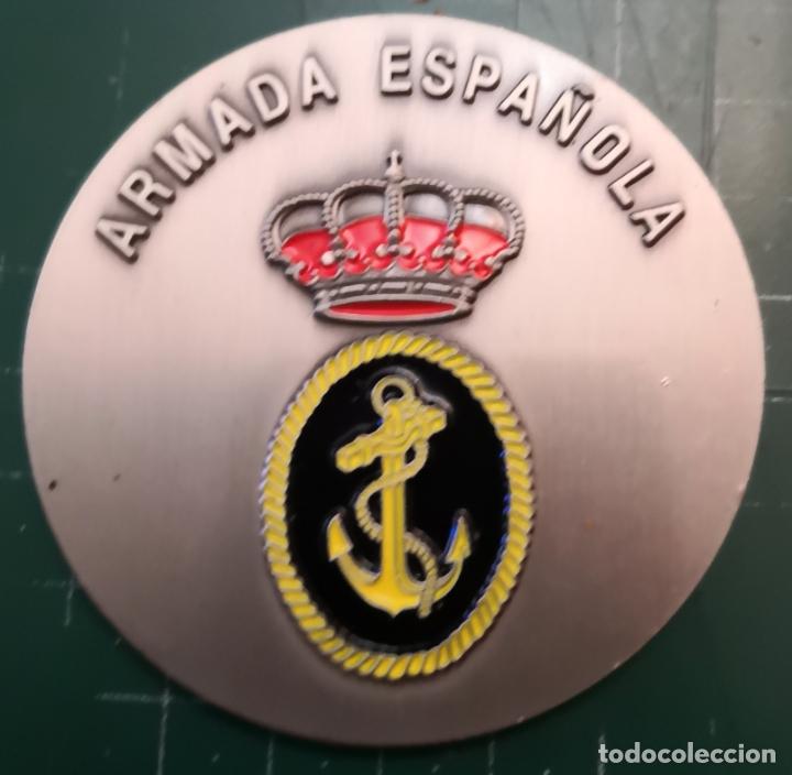 PLACA METALICA. ARMADA ESPAÑOLA (Militar - Reproducciones, Réplicas y Objetos Decorativos)