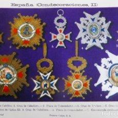 Militaria: CARTEL MEDALLAS MILITARES ESPAÑOLAS HASTA 1935. Lote 181507558