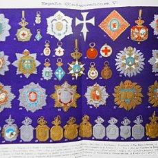 Militaria: CARTEL DE CONDECORACIONES MILITARES ESPAÑOLAS HASTA 1935 . Lote 181507932