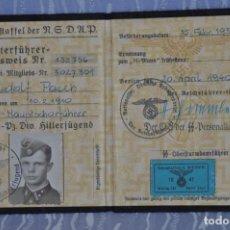 Militaria: AUSWEIS-DOCUMENTO-3ER REICH ALEMANIA. Lote 182010702