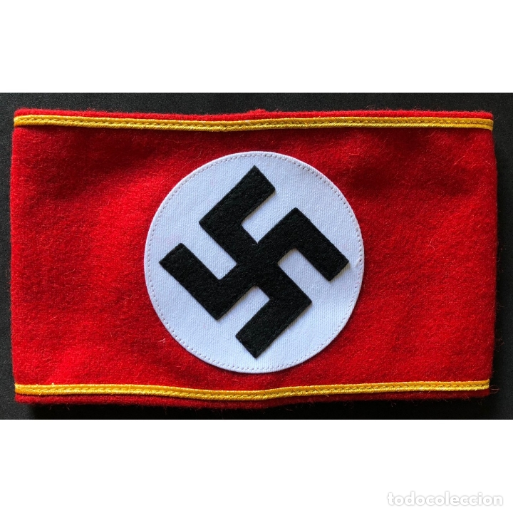 BRAZALETE DEL NSDAP ALEMANIA PARTIDO NAZI TERCER REICH (Militar - Reproducciones, Réplicas y Objetos Decorativos)