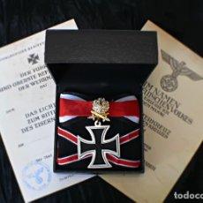 Militaria: CRUZ DE HIERRO CABALLERO ORO CON HOJAS DE ROBLE ESPADAS Y BRILLANTES 1939. Lote 214670150