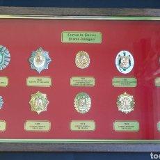 Militaria: CUADRO PLACAS DE POLICÍA NACIONAL. Lote 183470643