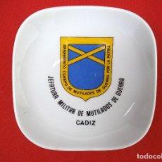 Militaria: BANDEJA O CENICERO DE LA JEFATURA MILITAR DE MUTILADOS DE GUERRA, CADIZ.. Lote 183818628