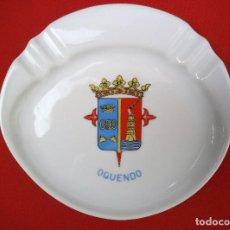 Militaria: BANDEJA O CENICERO DEL DESTRUCTOR OQUENDO, ÉPOCA FRANCO.. Lote 183818926