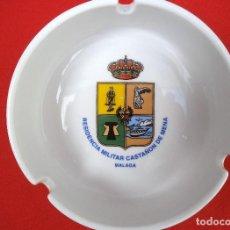 Militaria: BANDEJA O CENICERO DE LA RESIDENCIA MILITAR CASTAÑON DE MENA, MALAGA.. Lote 183819253