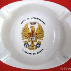 Militaria: BANDEJA O CENICERO DE LA BASE DE AUTOMOVILES TORREJON DE ARDOZ, ÉPOCA FRANCO.. Lote 183820340