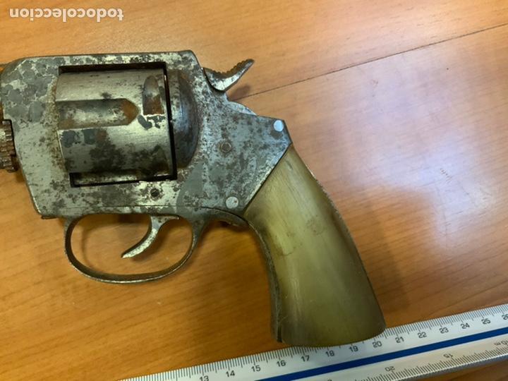 Militaria: Antiguo revólver finales s.xix, principios s.xx. Desconozco marca. Guerra civil? INUTILIZADO - Foto 2 - 184091283