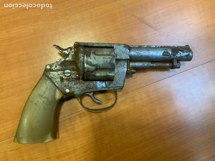 Militaria: Antiguo revólver finales s.xix, principios s.xx. Desconozco marca. Guerra civil? INUTILIZADO - Foto 4 - 184091283