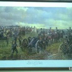 Militaria: LÁMINA ENMARCADA ÉPOCA NAPOLEÓNICA. Lote 185558668