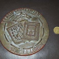 Militaria: EMBLEMA INSIGNIA METOPA DEL TERCIO GRAN CAPITÁN 1° DE LA LEGIÓN ESPAÑOLA MELILLA REALIZADO EN BRONCE. Lote 185884217