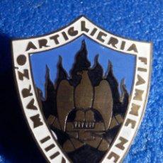Militaria: INSIGNIA ARTILLERÍA XXIII MARZO FIAMME NERE -4 X 3 CM .DIVISIÓN ITALIANA APOYO A FRANCO GUERRA CIVIL. Lote 186229657