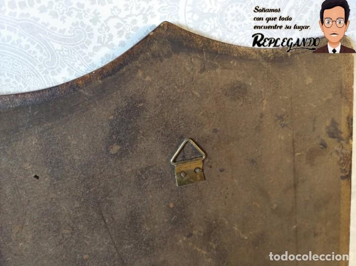 Militaria: METOPA MILITAR (REGIMIENTO INGENIERÍA Nº4) - 23X16 CM. (PLACA DE MADERA CON ESCUDO METAL) ESPAÑA - Foto 7 - 189750768