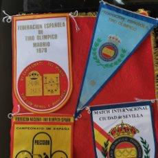 Militaria: 4 BANDERINES ORIGINALES DE TIRO OLÍMPICO.2.AÑOS 70. Lote 189815373