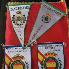 Militaria: 4 BANDERINES ORIGINALES DE TIRO OLÍMPICO. 3.AÑOS 70. Lote 189815963