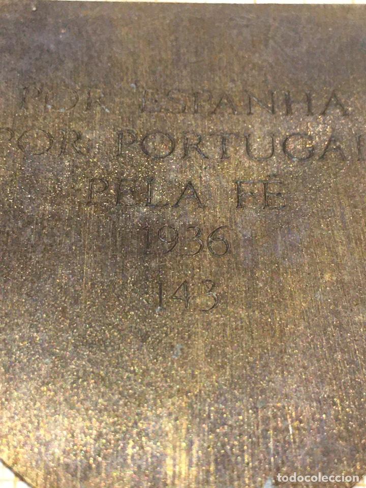 Militaria: Placa VIRIATOS (posible fantasía)Batallón Nacionalista Portugues - Foto 4 - 190022925