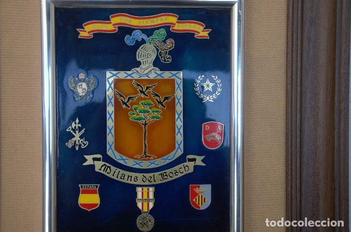 Militaria: CUADRO HONORIFICO MILANS DEL BOSCH VIVA POR SIEMPRE ESPAÑA DISTINTIVOS MEDALLAS - Foto 6 - 191418058
