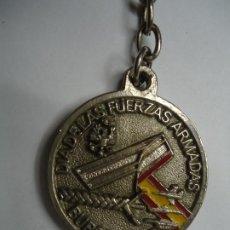 Militaria: LLAVERO DIA DE LAS FUERZAS ARMADAS BURGOS 1983 TODO EN RELIEVE EN BUEN ESTADO VER FOTOS. Lote 191521910