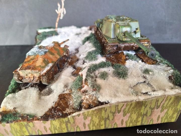 Militaria: ISU-122 Y HETZER. HUNGRÍA PRIMAVERA DE 1945. DIORAMA ESCALA 1/72 - Foto 4 - 191549996