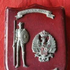 Militaria: METOPA ANTIGUA RESIDENCIA MILITAR DON QUIJOTE. MINISTERIO DE DEFENSA. Lote 192312605