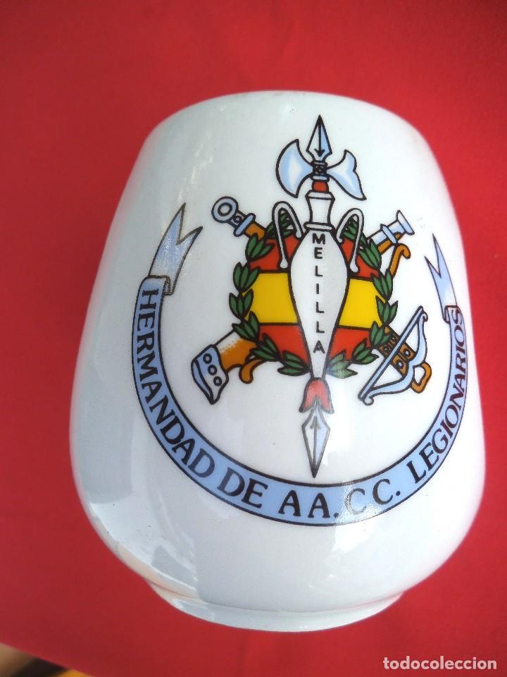 JARRA DE LA HERMANDAD AA. CC. LEGIONARIOS DE MELILLA (Militar - Reproducciones, Réplicas y Objetos Decorativos)