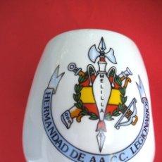 Militaria: JARRA DE LA HERMANDAD AA. CC. LEGIONARIOS DE MELILLA. Lote 192562498