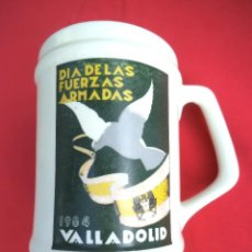 Militaria: JARRA DÍA DE LAS FUERZAS ARMADAS VALLADOLID 1984. Lote 192563157