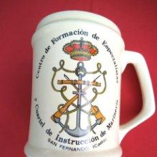 Militaria: JARRA CENTRO DE FORMACIÓN DE ESPECIALISTAS Y CUARTEL DE INSTRUCCIÓN DE MARINERÍA, SAN FERNANDO. Lote 192564863