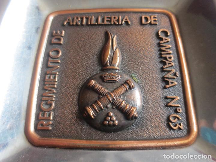 Militaria: CENICERO REGIMIENTO DE ARTILLERIA DE CAMPAÑA Nº 63 - Foto 3 - 192976370