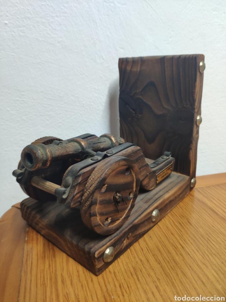 Militaria: Reproducción de cañón artillería imperial Carlos v metal sobre madera - Foto 2 - 194202431