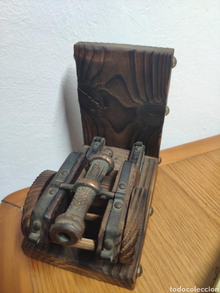 Militaria: Reproducción de cañón artillería imperial Carlos v metal sobre madera - Foto 4 - 194202431