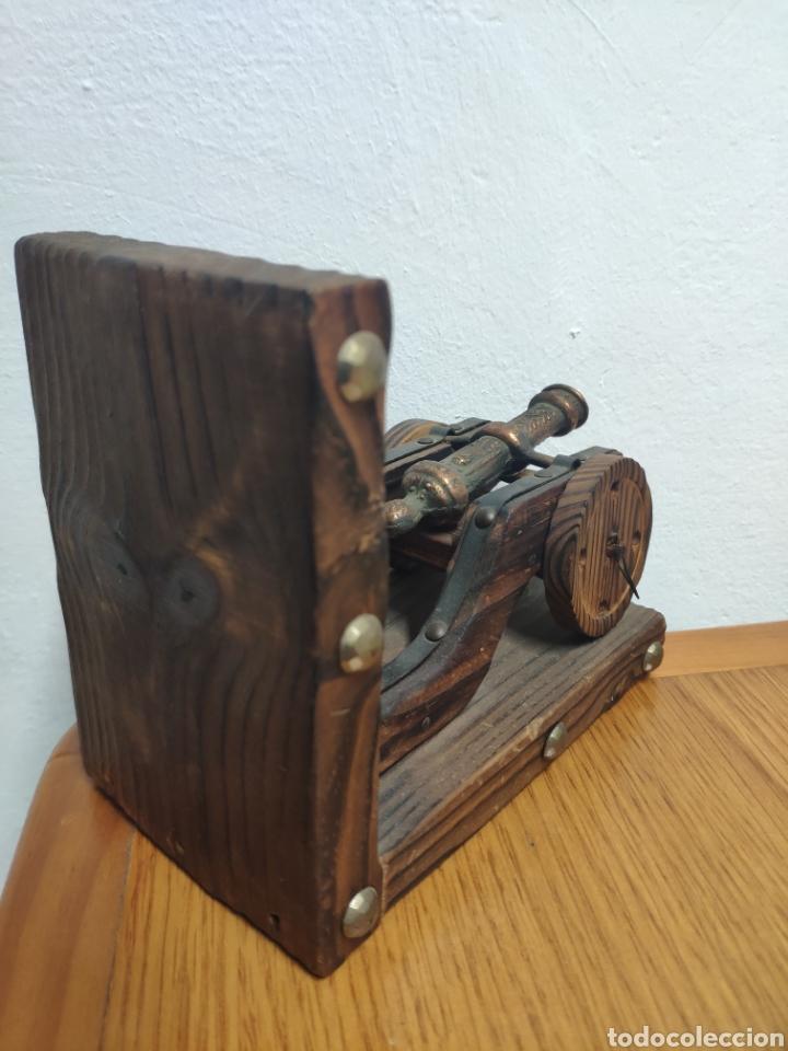 Militaria: Reproducción de cañón artillería imperial Carlos v metal sobre madera - Foto 7 - 194202431