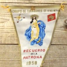 Militaria: BANDERÍN GRUPO TIRADORES DE IFNI Nº 1 1958, 28 CMS. Lote 194274761