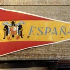 Militaria: BANDERIN ESPAÑA ESCUDO AGUILA DE SAN JUAN, 27 CMS. Lote 194275961