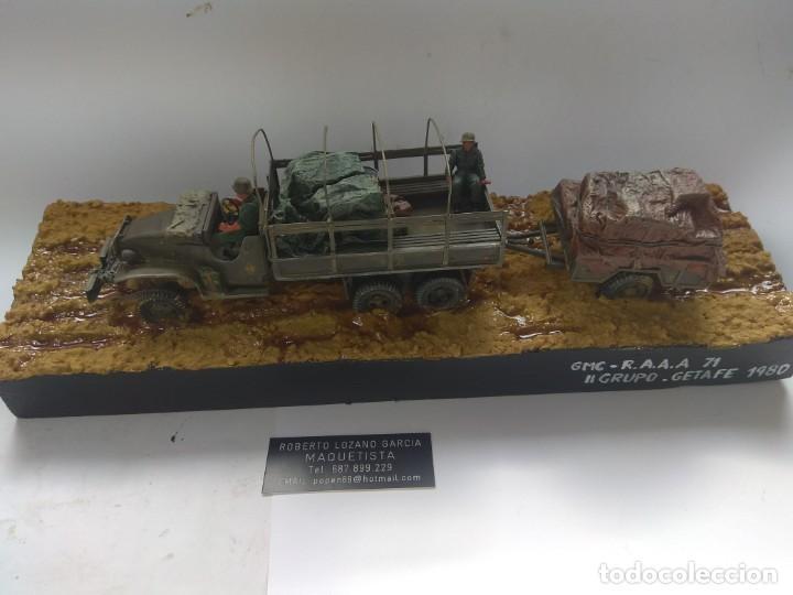 Militaria: DIORAMA MAQUETA -GMC R.A.A.A. 71-II GRUPO.GETAFE 1980 - Foto 2 - 194291752