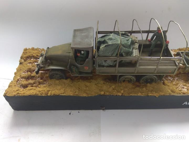 DIORAMA MAQUETA GMC-ACADEMIA DE AUTOMOVILISMO-ET -VILLAVERDE 1980 (Militar - Reproducciones, Réplicas y Objetos Decorativos)