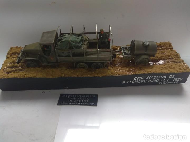Militaria: DIORAMA MAQUETA GMC-ACADEMIA DE AUTOMOVILISMO-ET -VILLAVERDE 1980 - Foto 2 - 194292122