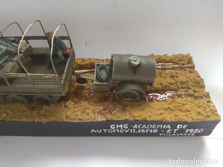 Militaria: DIORAMA MAQUETA GMC-ACADEMIA DE AUTOMOVILISMO-ET -VILLAVERDE 1980 - Foto 3 - 194292122