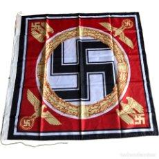 Militaria: BANDERA LEIBSTANDARTE ADOLF HITLER 90 X 90 CM ALEMANIA TERCER REICH PARTIDO NAZI. Lote 194321773