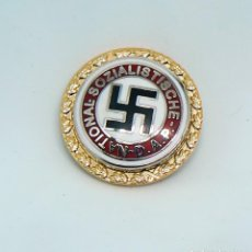 Militaria: INSIGNIA NAZI . DAP. GOLDENES PARTEIABZEICHEN. Lote 194359742