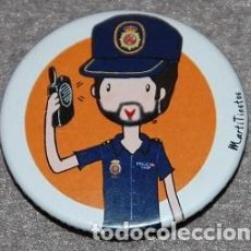 Militaria: CHAPA IMPERDIBLE AGENTE POLICIA NACIONAL. Lote 194943428