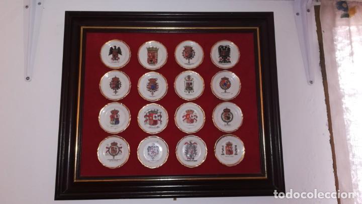 CUADRO ESCUDOS DE ESPAÑA, PLATOS CERAMICA (Militar - Reproducciones, Réplicas y Objetos Decorativos)