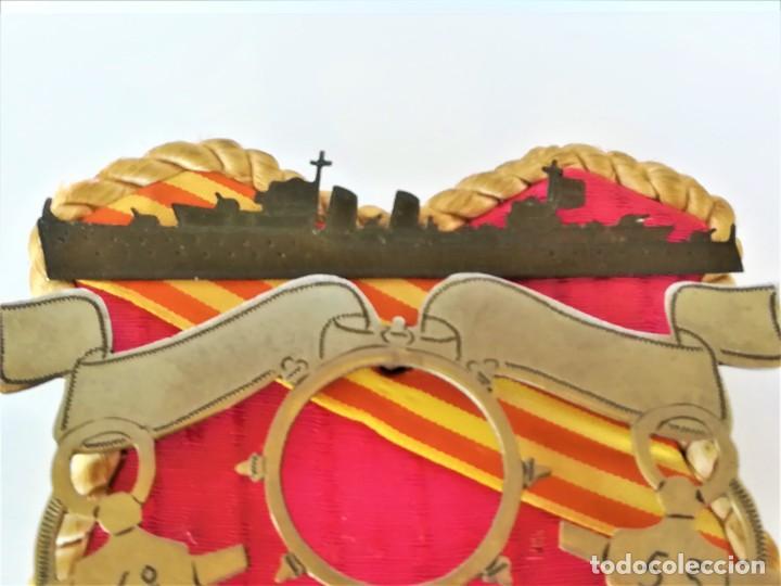 Militaria: ARMADA ESPAÑA,ESCUDO ARTE MARINO,CRUCERO MIGUEL DE CERVANTES,1953,ACTIVO GUERRA CIVIL ESPAÑOLA-IFNI - Foto 2 - 195388983