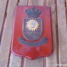 Militaria: METOPA EN MADERA Y METAL CG MALZIR SUR . Lote 196608927