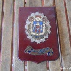 Militaria: METOPA EN MADERA Y METAL POLICIA MUNICIPAL DE SEVILLA NODO. Lote 294511258